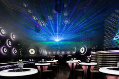 Disco light show, Stage lights Royalty Free Stock Photography