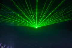Disco light show, Stage lights. With laser Royalty Free Stock Photography