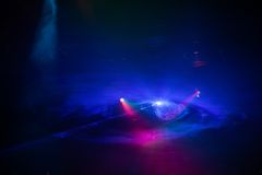 Disco light show, Stage lights. With laser Royalty Free Stock Photo