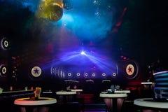 Disco light show, Stage lights Stock Photo