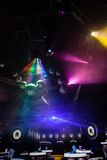 Disco light show, Stage lights Stock Images