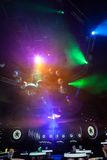 Disco light show, Stage lights Stock Photography
