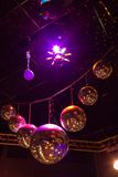 Disco light show, Stage lights Royalty Free Stock Photos