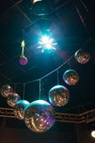 Disco light show, Stage lights Royalty Free Stock Image