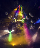 Disco light show, Stage lights with laser. Stock Images