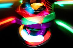 Disco light - some noise. Disco light in night club Royalty Free Stock Image
