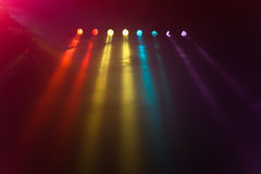 Disco lights. A lot of disco lights in a disco Stock Photography