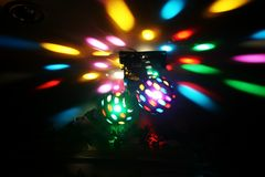 Disco Lights. Close up Stock Photo