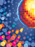 Disco lights. Disco background with glowing lights Stock Photos