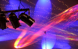 Disco lights. In night club Royalty Free Stock Images