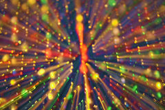 Disco Lights. Blur with colored lights reminiscent of disco dance lights royalty free stock photos