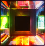 Disco lights. Disco light source in square form Royalty Free Stock Images