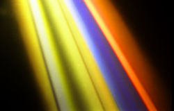 Disco lights. Disco color lights - linear rays Stock Photography