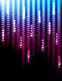 Disco lights background. Disco Abstract Colorful Stripes on Black Background Royalty Free Stock Photography