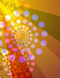 Disco lights background - orange & yellow vector illustration