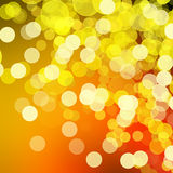 Disco lights background - orange & yellow.  Royalty Free Stock Photo