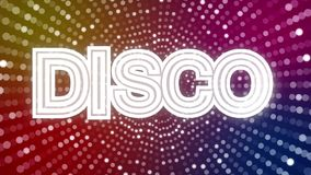 Disco lights with DISCO sign stock video footage