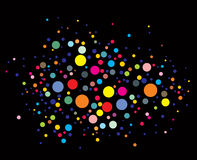 Disco lights dots Stock Photos