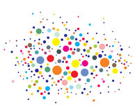 Disco lights dots Stock Images