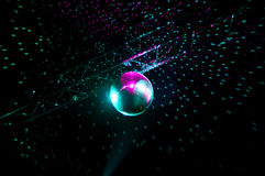 Disco lights mirror sphere Stock Image