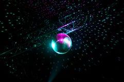 Disco lights mirror sphere Stock Image