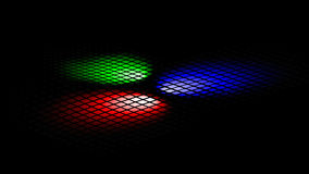Disco lights (RGB) Stock Images
