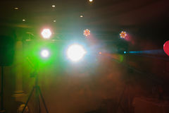 Disco lights and show Royalty Free Stock Photos