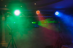 Disco lights and show Stock Photos