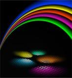 Disco lights, vector illustration Stock Photos