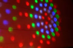 Disco lights on the wall Royalty Free Stock Photography