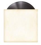 Disco LP dell'annotazione di vinile in manica di carta Fotografia Stock