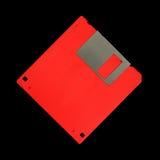 A disco magnetico ad alta densità rosso Fotografia Stock