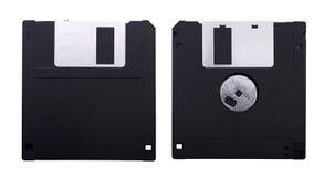 A disco magnetico isolato su bianco Fotografie Stock