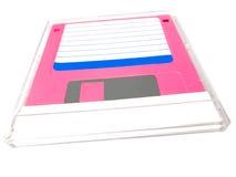 A disco magnetico in un contenitore di coperchio Fotografie Stock Libere da Diritti