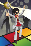 Disco man. A vector illustration of a man dancing disco on the dance floor Stock Photography