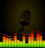 Disco microphone Royalty Free Stock Photo