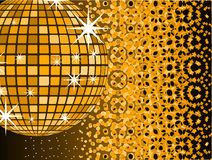 Disco mirror ball with Royalty Free Stock Photo