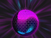 Disco mirror ball illustration Royalty Free Stock Photos