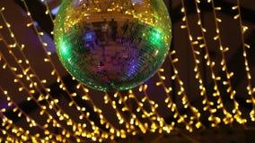 Disco Mirror Ball Lights stock footage