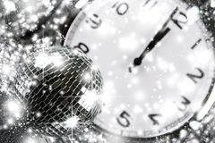 Disco mirror ball. New year. The disco mirror ball. New year Royalty Free Stock Images