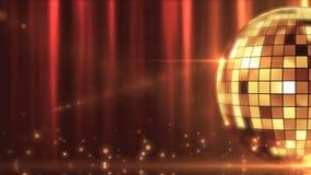 Disco mirror ball shining stock video footage