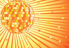 Disco mirror ball. Vector illustration. Royalty Free Stock Image