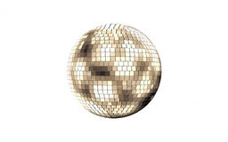 Disco mirror ball  on white background Royalty Free Stock Images