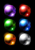 Disco mirror balls Royalty Free Stock Image
