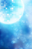 Disco mirror balls on blue background. Background ball bling blue bright ceiling celebration circle club stock photos