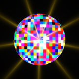 Disco mirror glitter ball Royalty Free Stock Photo