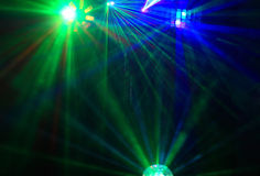 Disco. Mostra do laser. Fotografia de Stock Royalty Free