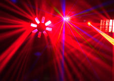 Disco. Mostra do laser. Fotos de Stock Royalty Free