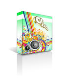 Disco Muisic Box or Package Royalty Free Stock Photography
