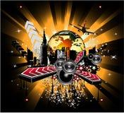 Disco Music Background Royalty Free Stock Photo